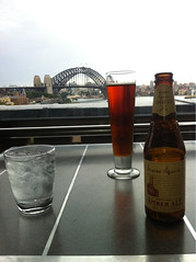Top floor of the Customs House with my friend James Squire and his amber ale