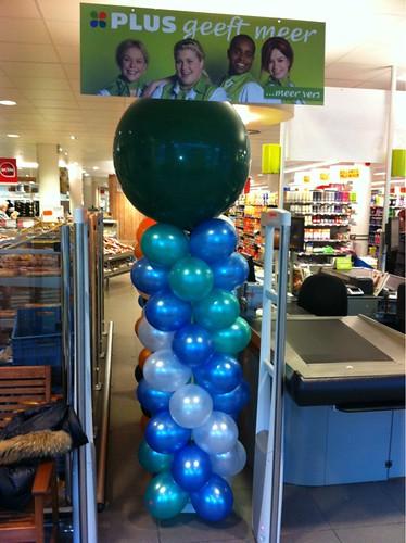 Ballonpilaar Breed Rond Plus Supermarkt Rotterdam Overschie