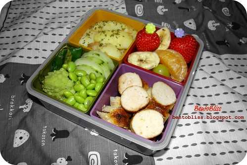 Chicken sausage bento - 25.01.2011