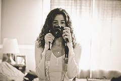 Peek-a-boo (Jaime973) Tags: bw me canon 50mm raw selfie weekofnocolor hidingbehingmycamera shadesofmediocrityaction filmyfeel yepnocolor