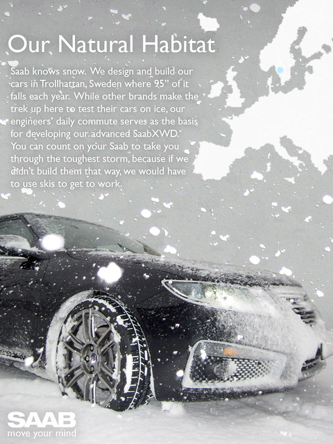 Saab Knows Snow