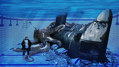 submarine (nael.) Tags: fish fishing marine kill underwater marin submarine ruine swimmingpool octopus editing piscine destroy photoedit sousmarin poulpe friche detruit nael photomonatge harpon