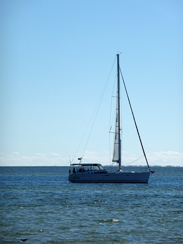 Sailboat on Pensacola Bay