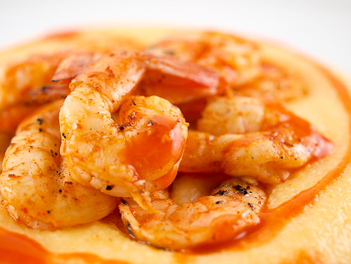 Grilled Shrimp and Cheese Grits