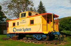 C&O 903642 (2) (Trains & Trails) Tags: old railroad yellow train vintage pennsylvania historic caboose railcar co restored preserved layton rollingstock fayettecounty chesapeakeandohio chessiesystem m930 903642