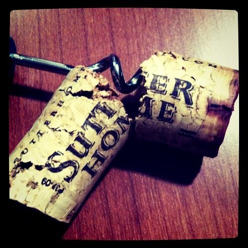 broken cork