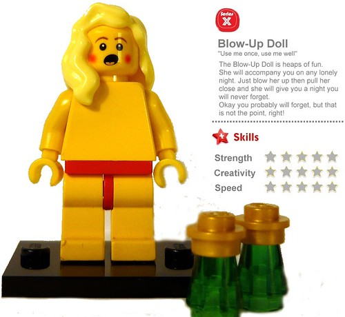 Custom minifig Blow-Up Doll