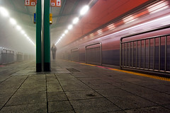 Off Balance, A Failed Portrait (Jon Asay ) Tags: station fog night train subway long exposure      uiwang