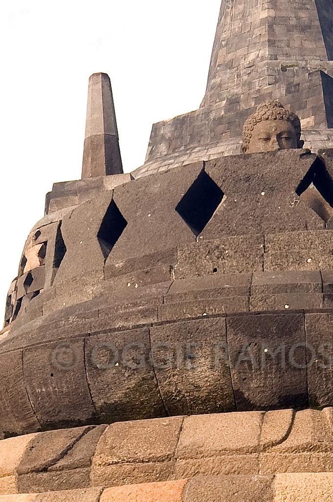 Indonesia - Borobudur Peeking Buddha