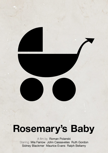 Rosemary's Baby pictogram movie poster