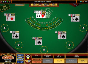Multi-Hand Vegas Strip Blackjack game