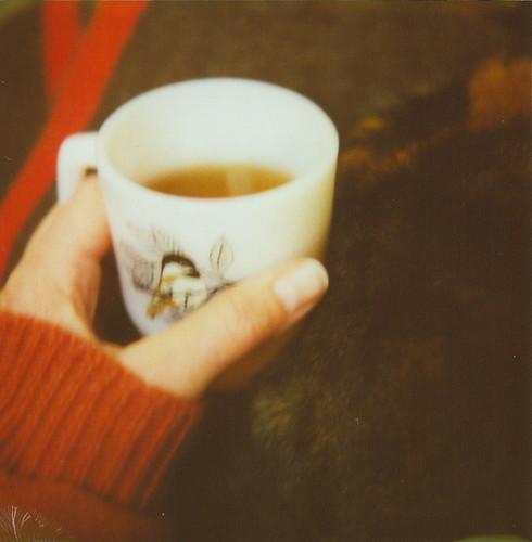 tea with cat.