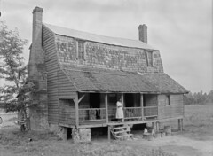 cabin on highway 301 (History Rambler) Tags: old family bw house home rural vintage tin sad south poor northcarolina southern plantation loc antebellum decayed halifaxcounty francesbjohnston