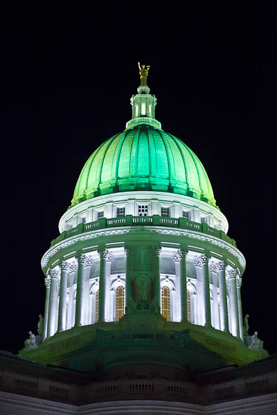 Capitol Building in Packer Green and Gold