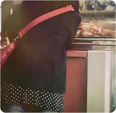 (- I'ʍ ʟike a...  r0llercoaster -) Tags: madrid en españa girl miguel de photo rojo san flickr el mercado fatale bolso churros tiempo esperar nains 2011 impaciencia latidos medíamos