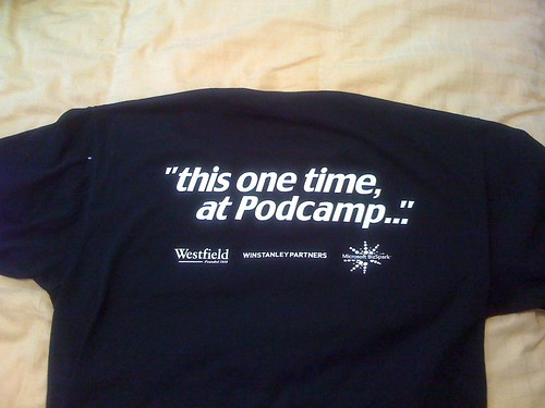 PodCamp WesternMass 2 t-shirt