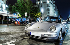 Porsche 993 carrera (__martin__) Tags: street paris cars by night grey nikon nightshot porsche 1750 raindrops autos avenue tamron spotting carrera exotics supercars 993 carspotting d80 martincarspictures