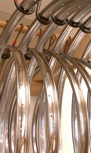 "28"" (635mm) 36-hole Steel Box Rims at Flying Pigeon LA bike shop"