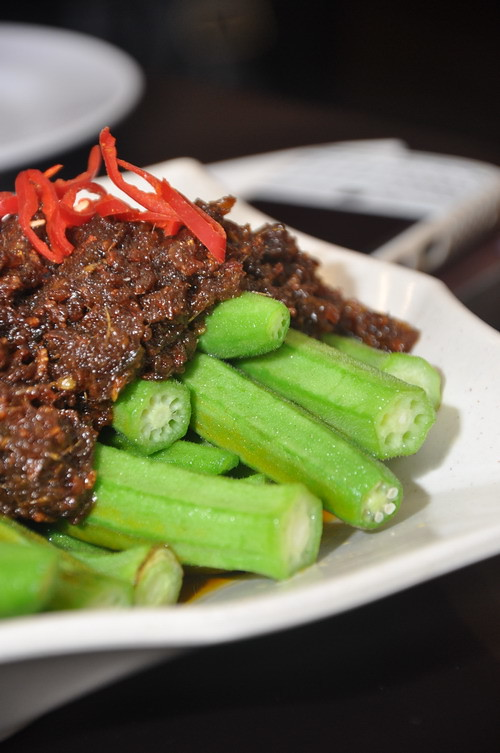 Dried Prwan Sambal with Okra