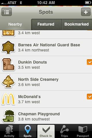 McDonalds has a custom Gowalla icon!