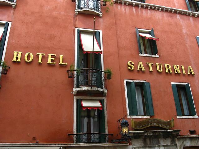 ヴェネツィアのホテルのフリー写真素材