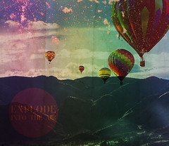 Explode into the air (| LAZARUS |) Tags: mountains hot mouth balloons landscape photo lyrics quote air chiodos stratovolcano