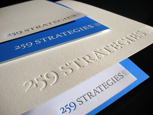 259 Strategies Letterpress