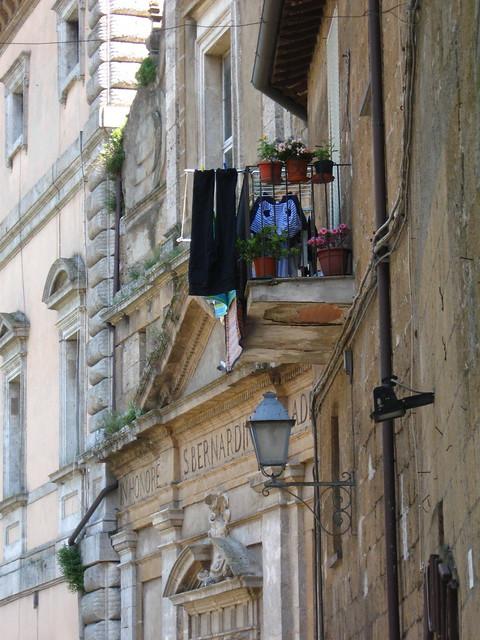オルヴィエートの建物のフリー写真素材