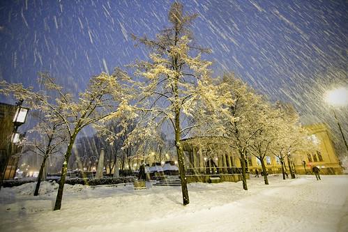 Heavy snowfall in Oslo