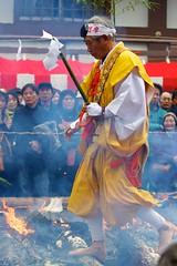 scrambling across (StephenCairns) Tags: feet yellow festival japan fire buddhist monk buddhism ash barefeet priest gifu matsuri ono embers setsubun robes firecrossing warriormonk yamabushi canon50d 70200mf4lisusm kiburitemple kiburiji