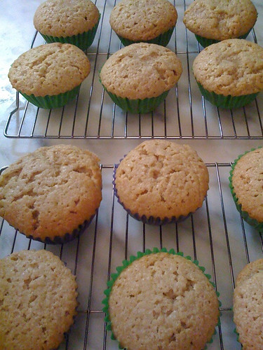 12 chai cupcake cooling