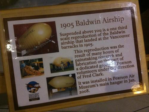 1905 Baldwin Airship at Pearson Air Museum