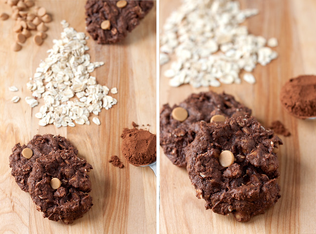 Peanut Butter-Chocolate Oatmeal Cookies