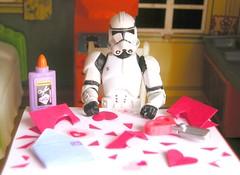 Bob's starting to make his Valentines... (tomo_moko) Tags: cards star day bob valentine stormtrooper valentines wars