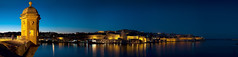A panorama of Valletta and the Grand Harbour (joeborg) Tags: sea port dusk malta valletta grandharbour flickraward
