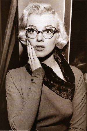 Marilyn Monroe fashion cat eye glasses