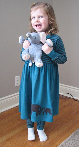 Elephant Dress and Elephant Stuffy