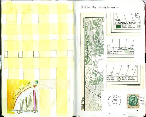 Masking tape grid & map grid