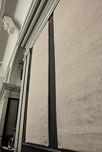 Burlap Wall Detail