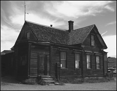 Bodie Townhome bw (Feist, Michael - FunnyFence - catchthefuture) Tags: ocean sanfrancisco california ca bridge light sunset usa lighthouse lake reflection green art beach window water glass ferry sunrise foxy shark boat waterfall washington earthquake concert rainbow woods funny wolf kayak basket desert eagle wind native wizard spirit earth space stage clown tiger ghost rusty surfing sierra canoe tsunami pomo zen sound elin balance indians orca bodie lightning geology enlightenment earthquakes tornado feist strait wolves typhoon puget frisco striations ohlone seirra miwok doane catchthefuture