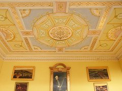 Classical ceiling (Sweetington) Tags: yellow miniature ceiling adelphi classical interiordesign 18thcentury dollhouse gilt stately dollshouse robertadam sidford timsidford wwwtimsidfordcom