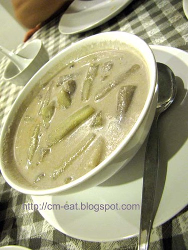 Lotus stem in coconut soup / curry