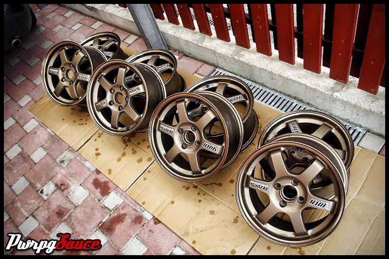 """Volk Rays TE37 15"""" wheels"""