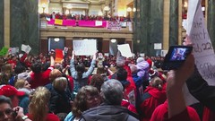 """Chanting """"Recall Walker"""" in Capitol"""