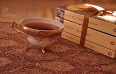 (Asma Adnan) Tags: reading book tea classics cupoftea novels