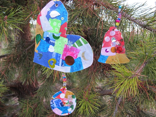 Our collage ornaments #3