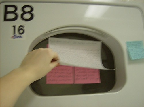 Sunday night laundry room showdown