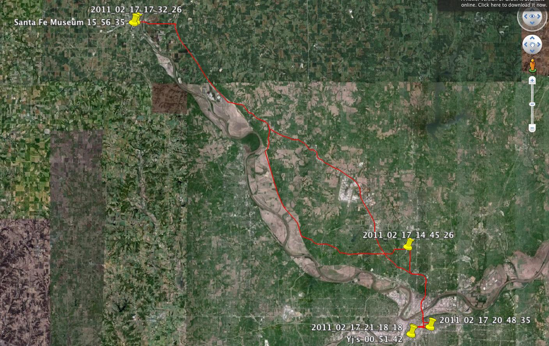Daymap 2-17-11 Atchison Daytrip