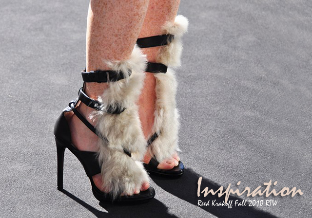 Easy Fur Sandal DIY, Reed Krakoff fur sandals photo, Jak and jil photo reed krakoff sandals