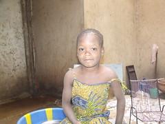 Salimata, une de nos plus jeunes enfants parrainés.
